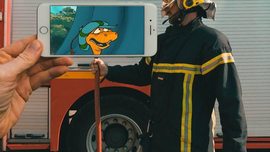 François Dourlen apporte sa touche originale au calendrier des pompiers de Cherbourg