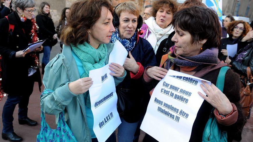 Les AVS ont manifesté il y a quelques semaines un peu partout en France comme ici à Toulouse