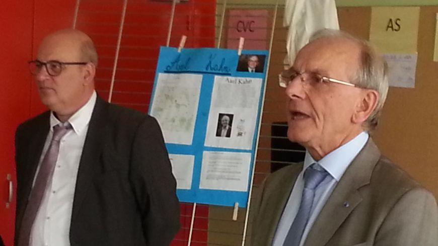 Cher : Axel Kahn inaugure le premier collège multisites de la région