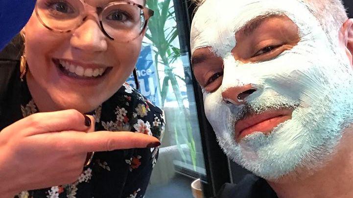 Aurélie lescouet Esthéticienne à La Bridoire et l'homme masqué Serge Carbonell