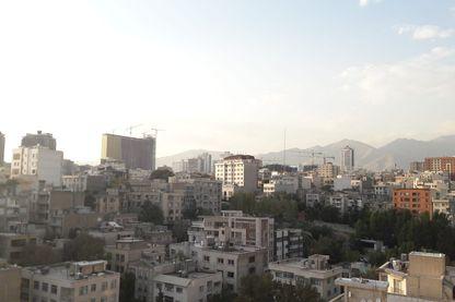 Vue du nord de Téhéran.
