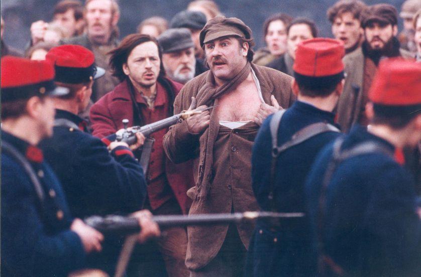 Image extraite du film Germinal de Claude Berri avec notamment Gérard Depardieu et Renaud (1993)