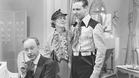 La comédie musicale : Cowboy from Brooklyn avec Dick Powell, Hobart Cavanugh et Elizabeth Risdon