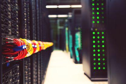 Powerful supercomputer working