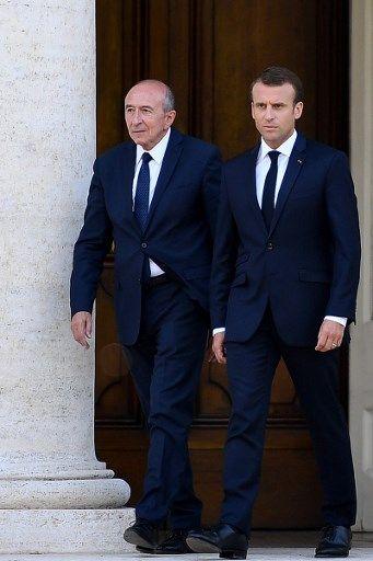 Gérard Collomb et Emmanuel Macron, pris en photo le 26 juin 2018