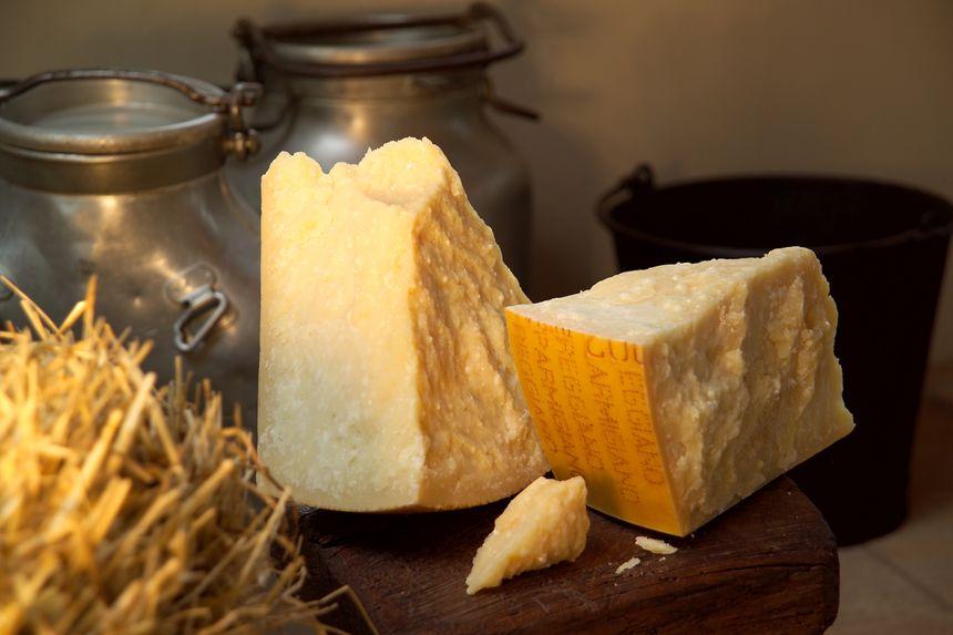 Le pamesan Reggiano l'une des grandes spécialités de la gastronomie italienne