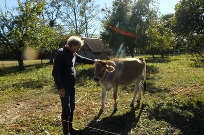 Gabriel Dufils, éleveur dans l'Eure.