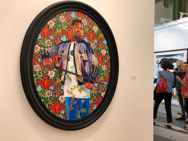 "Kehinde Wiley, ""Portrait of Quentin Lee Moore"""