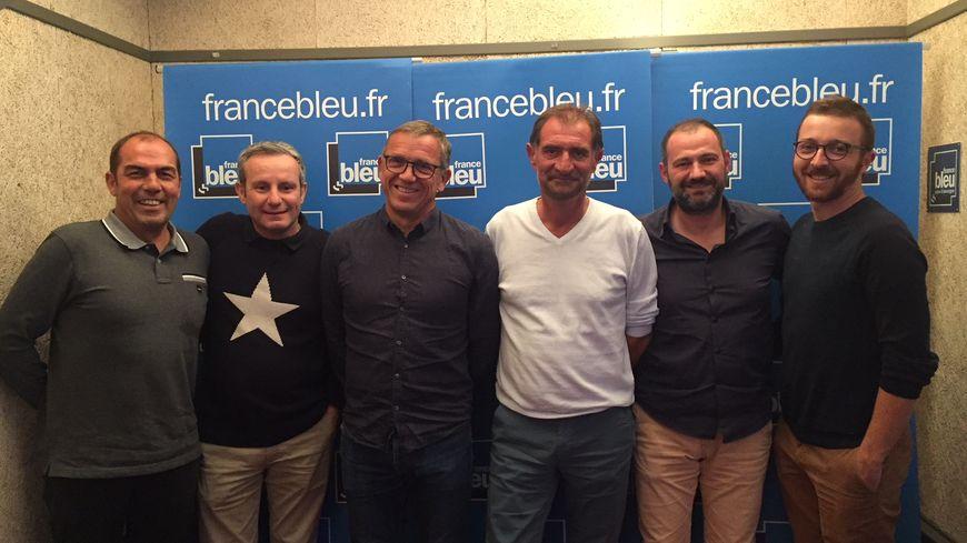 De g. à d. : Jean-Pierre Morel, Vincent Salesse, Bertrand Rioux, Fred Zago, Jean-Luc Guillet et Antoine Fontanelle