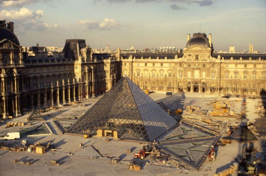 Chantier de la Pyramide du Louvre