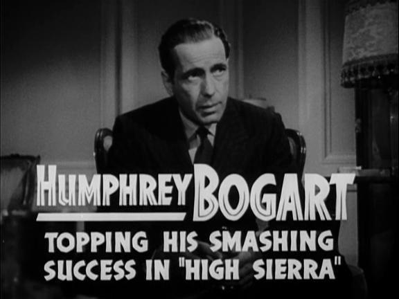 """Image de la bande-annonce (1941) du film de John Huston, Warner Bros """"Le Faucon maltais"""" avec Humphrey Bogart."""