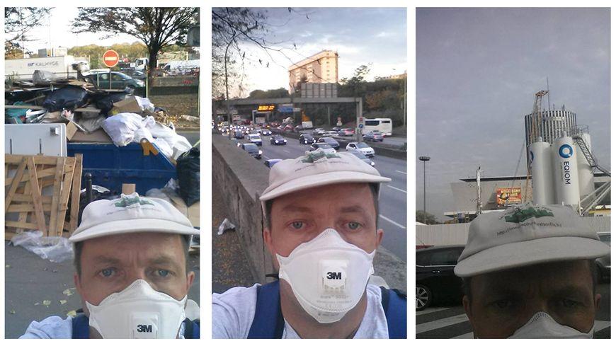 Un tour du périphérique à pied pour dénoncer la pollution.