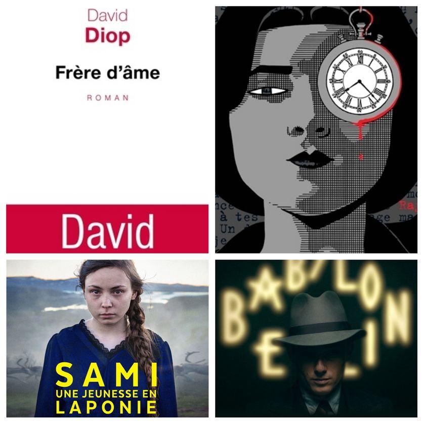 Pages de couverture et affiches des oeuvres programmées pour la table ronde fiction du jour