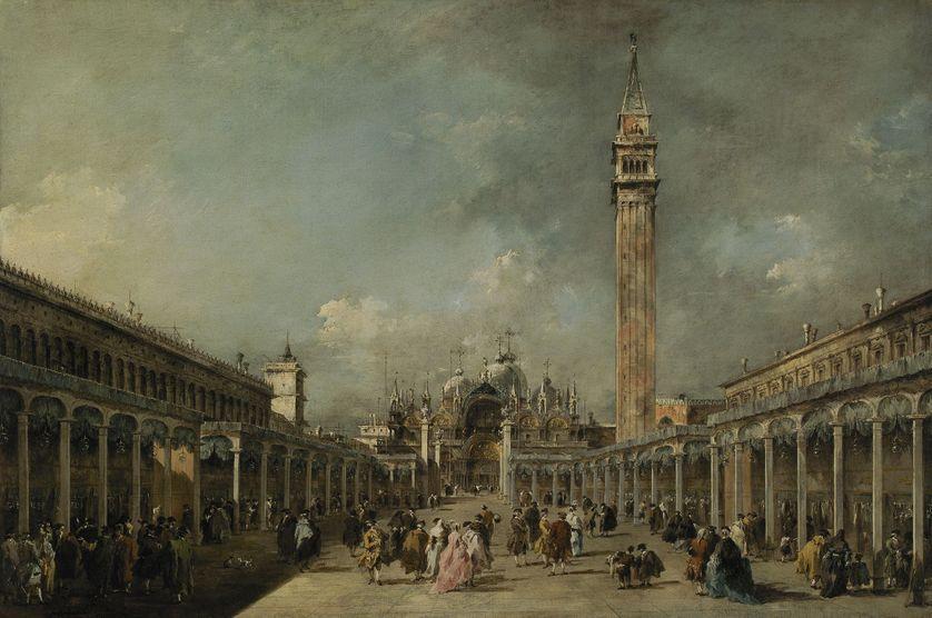 Francesco GUARDI La Piazza San Marco pendant la fête de l'Ascension 1777