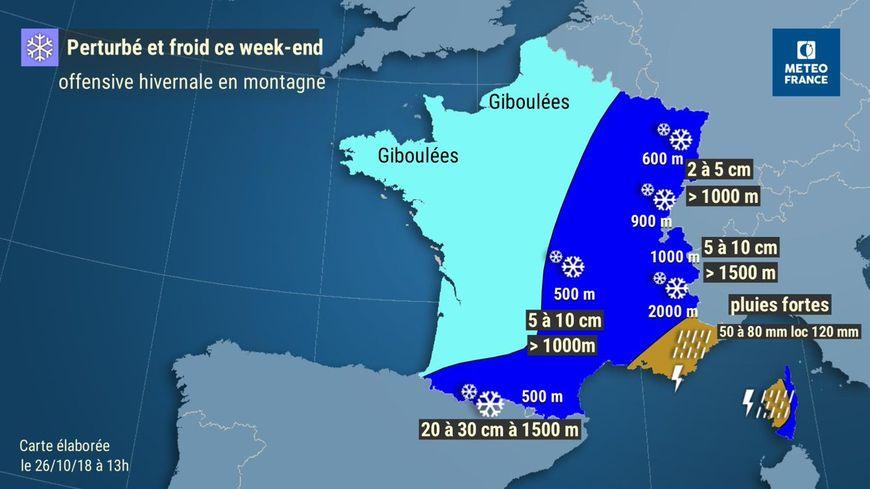 """Un froid """"polaire"""" et de la neige déboulent en France dès ce samedi"""