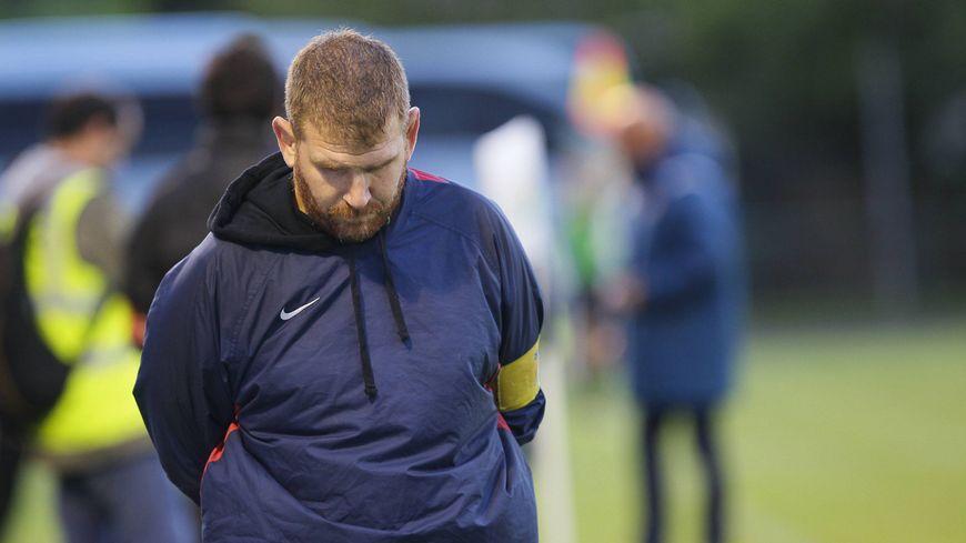 Rémi Escudier, l'un des deux entraîneurs de l'US Bergerac Rugby (le 16 septembre 2017)