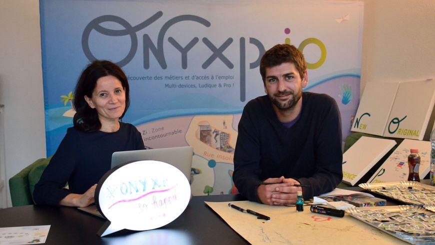 Murielle Emmanuelle Maronne, fondatrice du projet OnyXP et Thibaut Gay, directeur artistique