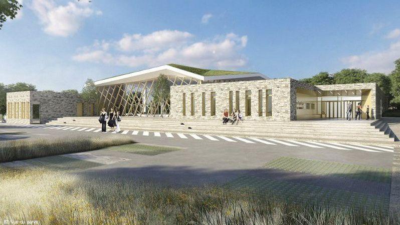 Le projet de centre aquatique, tel qu'imaginé au départ par les architectes.