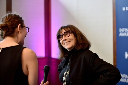 Sophie Calle, lors de la cérémonie Infinity Awards au Centre International de la Photographie de New-York, en 2017 !