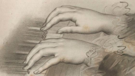 Gravure extraite du Cours complet pour l'enseignement du forte piano d'Hélène de Montgeroult © Gallica/BnF