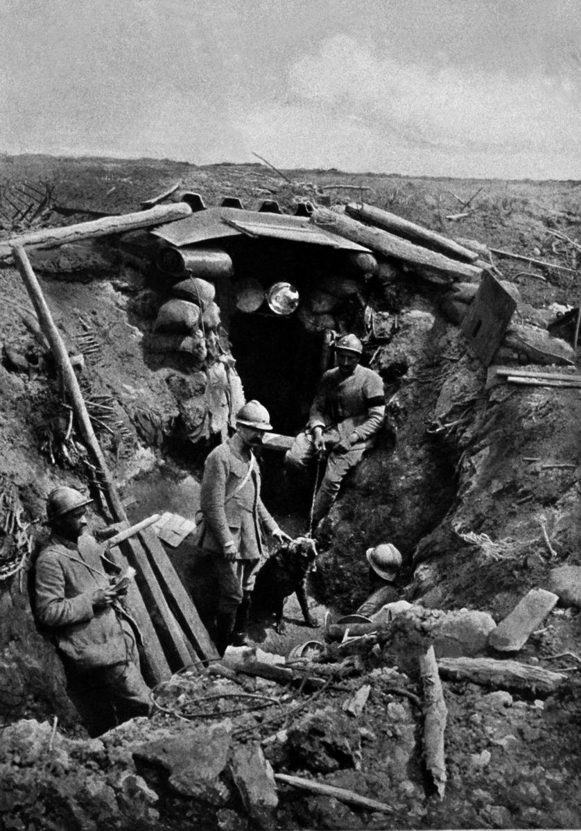 Tranchée  française sur Le Chemin des Dames, 16 juin 1917