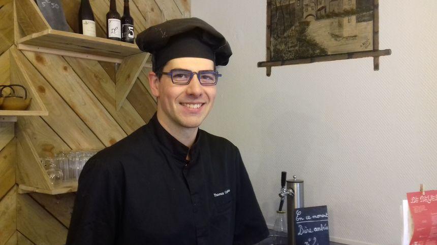 Thomas Crépeau, le jeune cuisinier à Origné