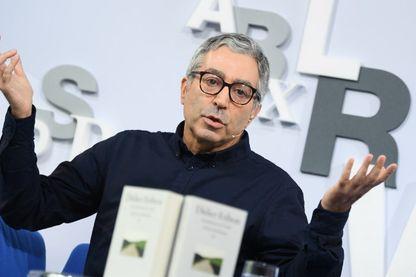 Didier Eribon, écrivain, sociologue et philosophe, conférence de presse à la Foire du livre de Francfort le 11 octobre 2017.