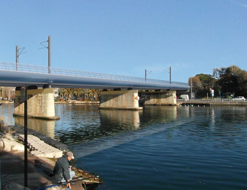 Le futur pont de la Siagne