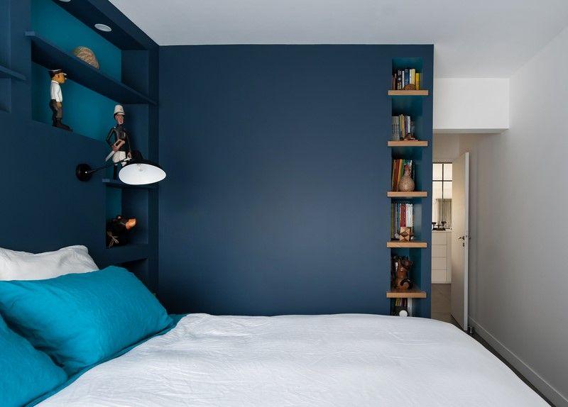 chambre bleue nuit