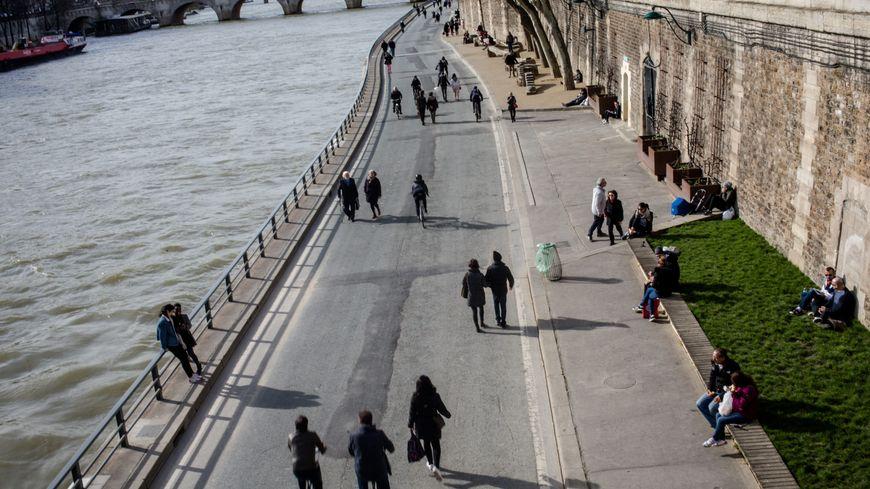 A Paris, les voies sur berges sont piétonnes depuis septembre 2016