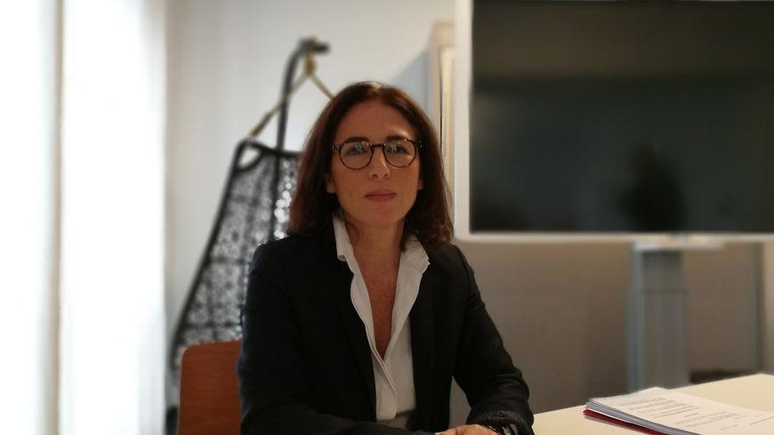 Nathalie Motsch, lundi, lors de sa conférence de presse à l'hotel Régina