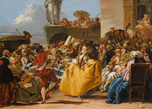 Giandomenico TIEPOLO Scène de carnaval ou Le Menuet 1754-1755 huile sur toile 80,5 x 105 cm Paris, Musée du Louvre, Département des Peintures photo