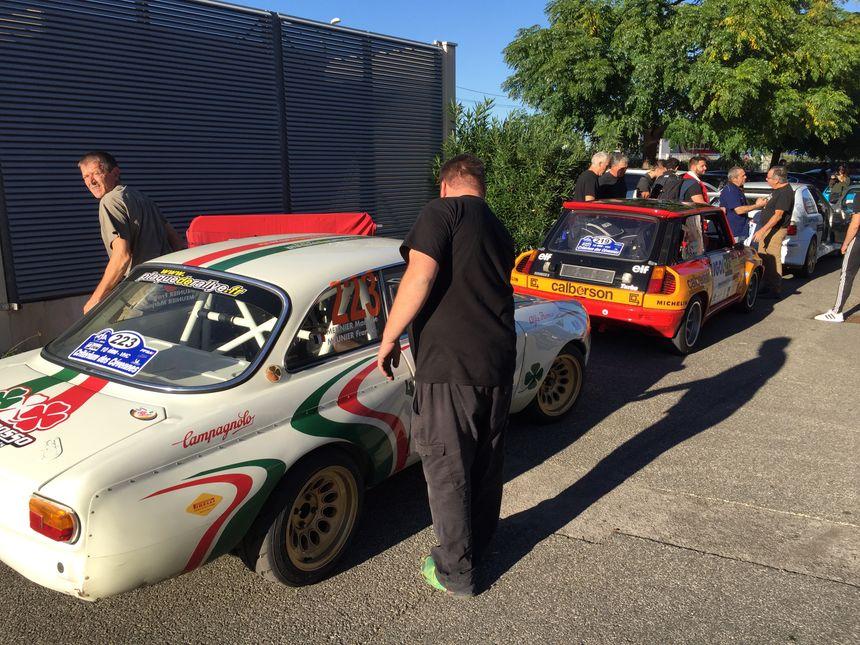 Les voitures sont prêtes pour le Critérium des Cévennes