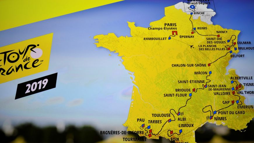 La présentation de la carte du Tour de France 2019, le 25 octobre à Paris.