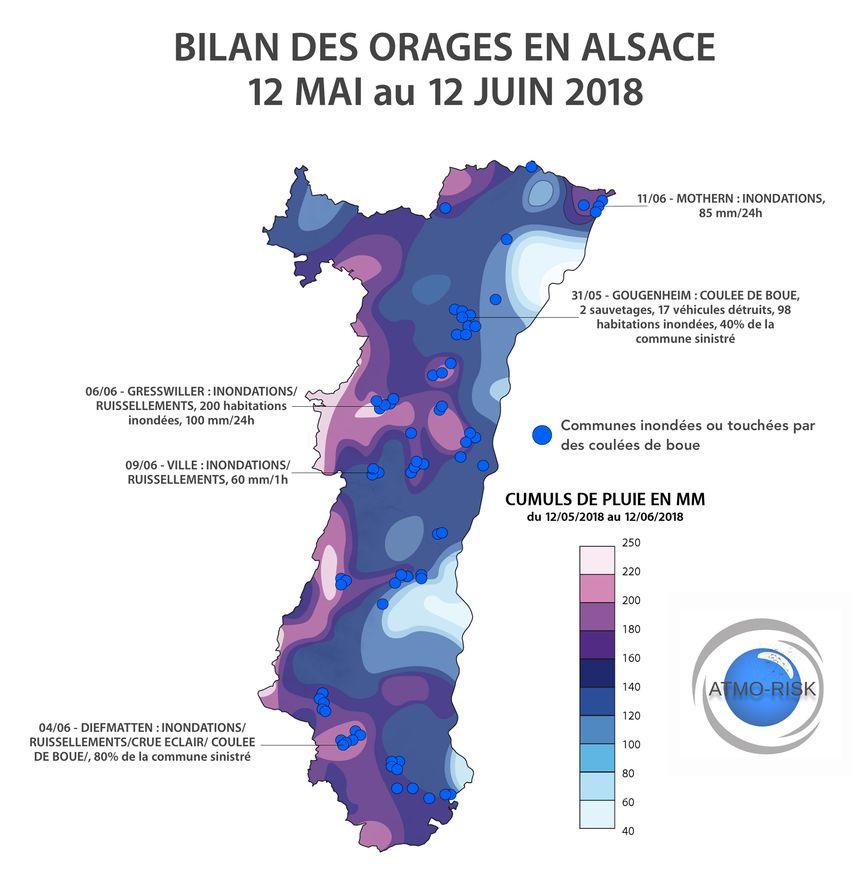 Carte Inondation Alsace.Cartes Inondations Et Coulees De Boue 80 Des Communes
