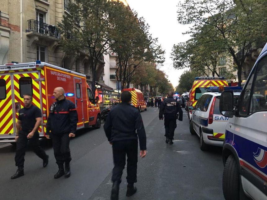 L'accident s'est produit rue de la Convention, dans le XVe arrondissement de Paris.