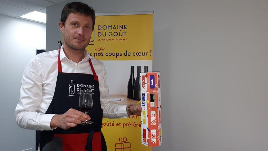Sébastien Bricout, le fondateur de Domaine du Goût et créateur du calendrier de l'avent 100% vin.