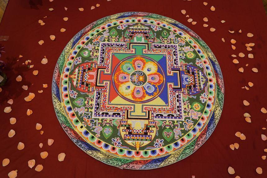 Le mandala réalisé pour la méditation