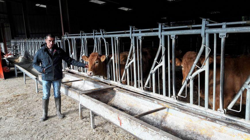 Olivier Rolinat, un éleveur inquiet face au manque de fourrage pour nourrir ses bovins