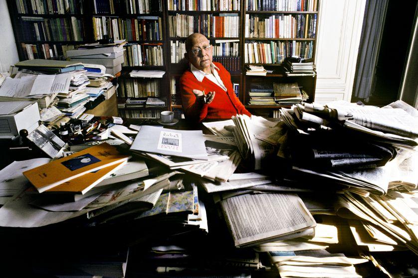 Portrait de Cornelius Castoriadis en septembre 1990.