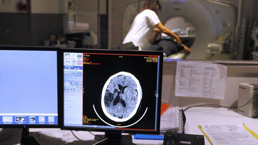 IRM du cerveau au CHU de Montpellier.