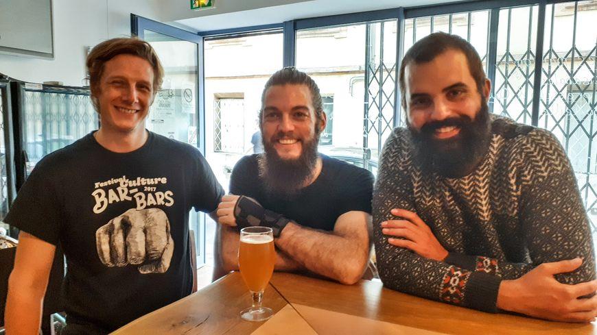 Brieuc Laustriat, Justin Marquez et Benjamin Serralta, les trois inventeurs de la bière au cassoulet