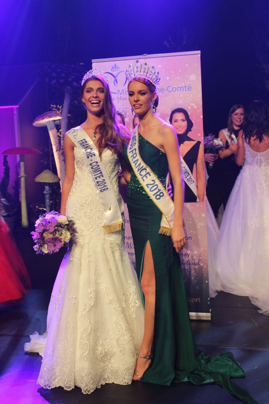 La nouvelle miss Franche-Comté aux côtés de miss France