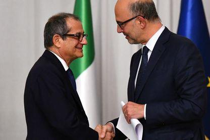 Le ministre de l'économie et des finances italien Giovanni Tria a rencontré le commissaire européen Pierre Moscovici à Rome la semaine dernière