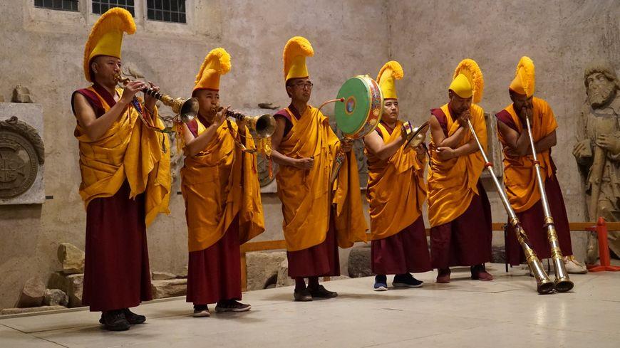 Les moines tibétains sont actuellement en Alsace