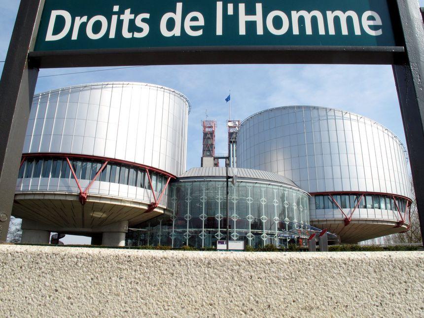 Devant la Cour européenne des droits de l'homme à Strasbourg (archives)