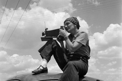 Dorothea Lange au Texas sur les Plaines Vers 1935 Photo : Paul S. Taylor © The Dorothea Lange Collection, the Oakland Museum of California, City of Oakland. Gift of Paul S. Taylor