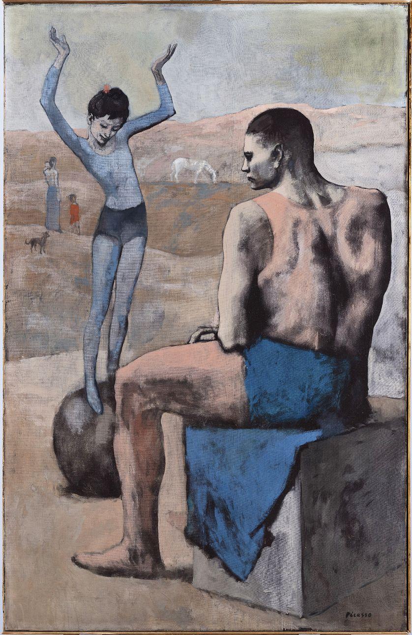 L'Acrobate à la boule, Picasso, 1905