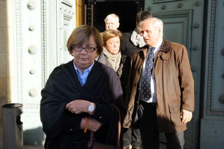Christine et Charles Henri De Vedrines, lors du procès de Thierry Tilly à Bordeaux