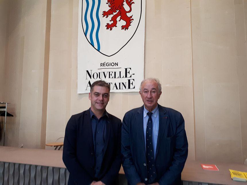 Nicolas Gamache et Henri Sabarot, conseillers régionaux qui ont soutenu le projet de PNR.